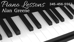 Customizable Design Templates For Piano Lessons Business Card