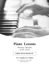 piano Lessons flyer Design template