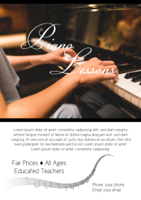 Piano Lessons Flyer Template Workshop Course