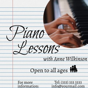 Piano Lessons Notebook Video