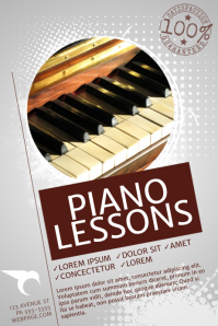 Customizable Design Templates For Piano Lessons Postermywall