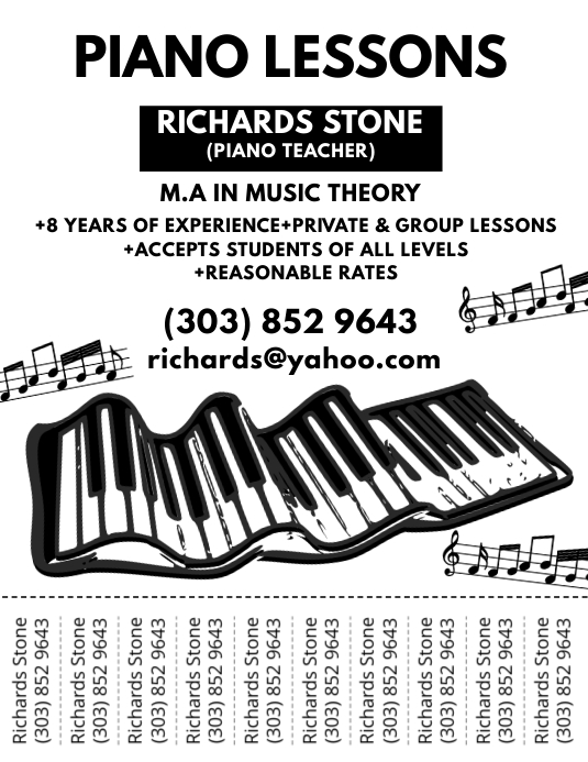 Music Book Cover Template : Piano lessons flyer template postermywall