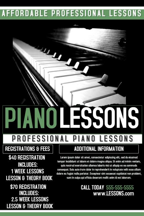 Piano Studio Flyers