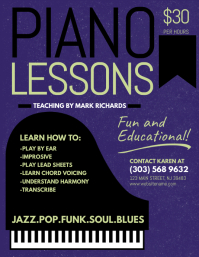 music lesson flyer template