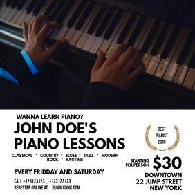 Piano Lessons Template