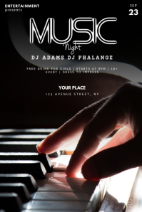 Piano Music Concert Flyer Template