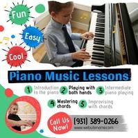 Piano Music Lessons Сообщение Instagram template