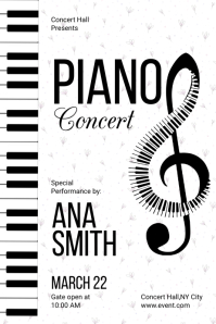 Piano Night Concert Poster template