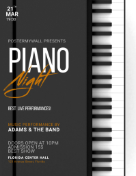 Piano Night Flyer Template