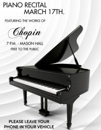 PIANO RECITAL Volante (Carta US) template