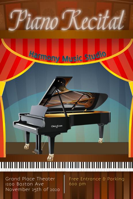 piano recital/piano concert/piano studio
