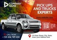 pick up and trucks advertisement car dealersh Poskaart template
