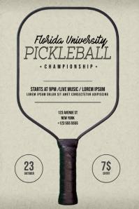 Pickleball Flyer Template Poster
