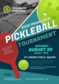 Pickleball Tournament Flyer A4 template