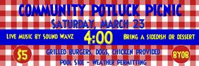 Picnic Banner 2x6