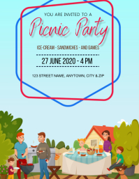 PICNIC birthday party Design Template