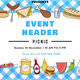 picnic event ad social media template