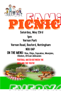 picnic flyer background