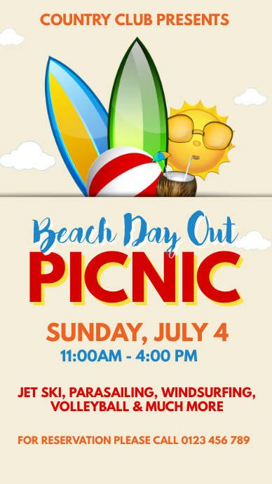 Picnic Party Flyer Template Instagram Story