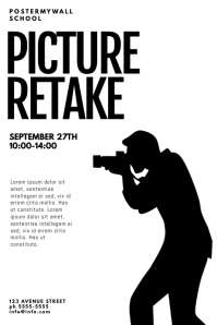 Picture retake Day flyer Design Template