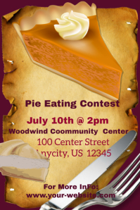 Pie Eating Contest template