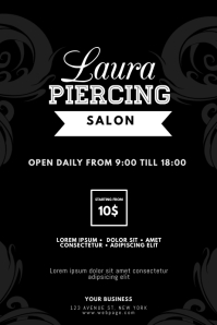 Piercing Salon Flyer Template