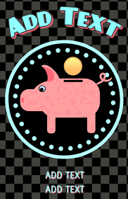 pig piggy bank and coin - money saving for kids