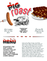 Pig Roast Barbecue Cook Off Flyer Template