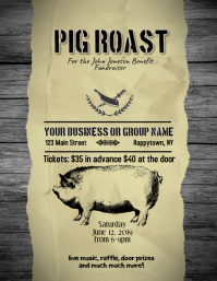 Pig Roast Barbecue Fundraiser Flyer Template