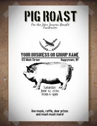 pig roast bbq Flyer