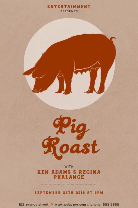 Pig Roast Flyer Design Template