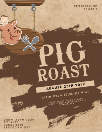 Pig Roast Flyer Template