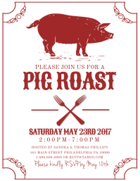 customizable design templates for pig roast postermywall