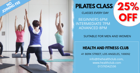 pilates class facebook ad template