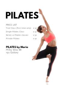 Pilates Classes Price List Yoga Studio Health