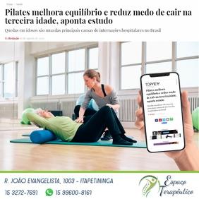Pilates Instagram Post template