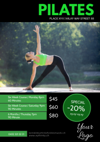 Pilates Training Personal Coaching Sport Ad A4 template