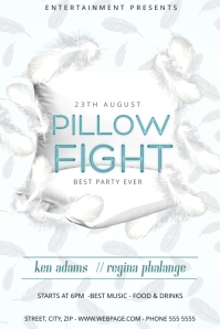 Pillow Fight Flyer Template