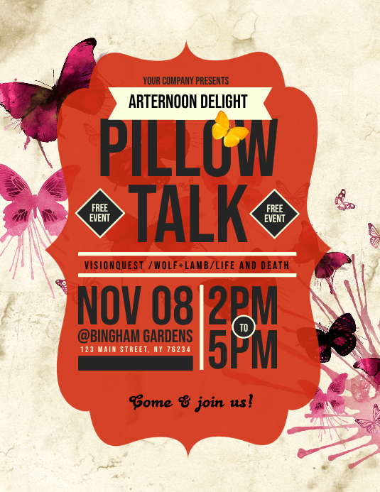 Pillow Talk Flyer