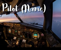 Pilot poster Medium Rectangle template