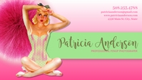 Pin Up Girl Business Card Ikhadi Lebhizinisi template