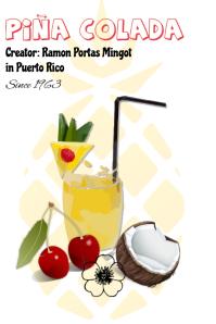 pina colada/drinks/bar/restaurant/bebidas