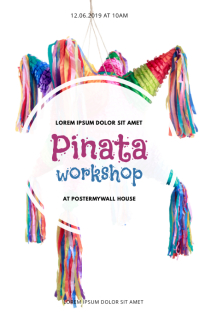 Pinata Craft workshop Event Flyer Template Sampul Buku