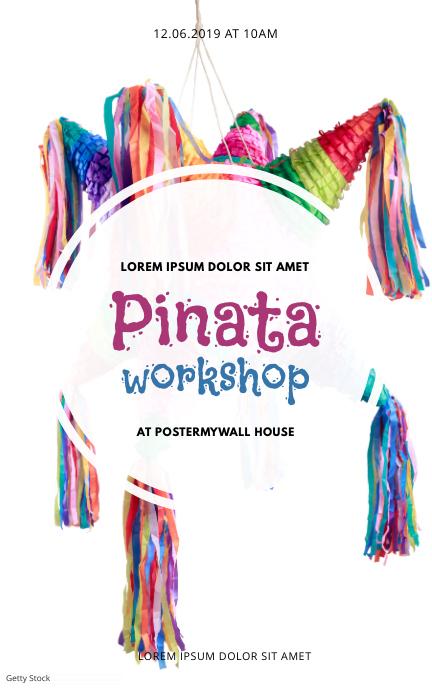 Pinata Craft workshop Event Flyer Template