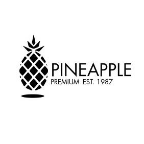 pineapple black and white modern minimal logo