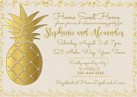 Pineapple Housewarming Invitation