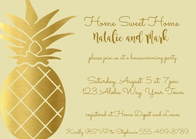 Pineapple Housewarming Invitation
