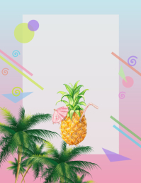 pineapple luau aloha party Рекламная листовка (US Letter) template