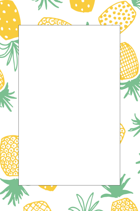 Pineapple Party Prop Frame Template | PosterMyWall