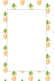 Pineapple Party Prop Frame